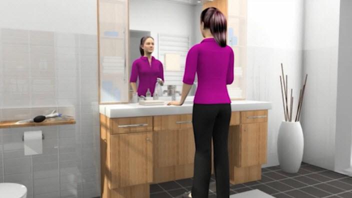 A standard hosszúságú női katéter felhelyezési módja